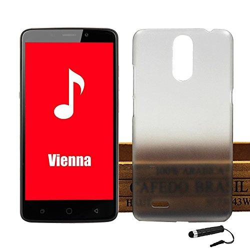 Tasche für Ulefone Vienna Hülle, Ycloud Handy Backcover Kunststoff-Hard Shell Case Handyhülle mit stoßfeste Schutzhülle Smartphone Grau