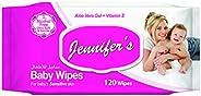 Jennifer's JENNIFER'S BABY WIPES 120s, Pi