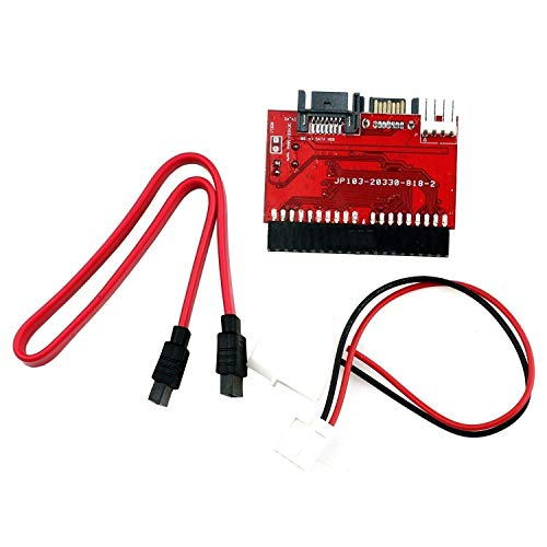 JX2Bidirektionaler Gegenseitige IDE zu SATA/SATA zu IDE Interaktion Konverter Adapter Karte mit Kabel unterstützt Desktop PC HDD DVD Festplatte 2 Pack Rot -