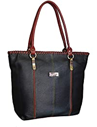 Large Capacity Leather Tote Bags For Women Cum Handbags For Women (pure Leather Bag) (Black)