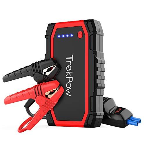 TrekPow Jump Starter 800A Avviatore Batteria Auto (per Motori 12V Benzina 6L e Diesel 5L), Avviatore Emergenza Portatile con USB QC3.0 & Tipo C, Booster per Auto Moto