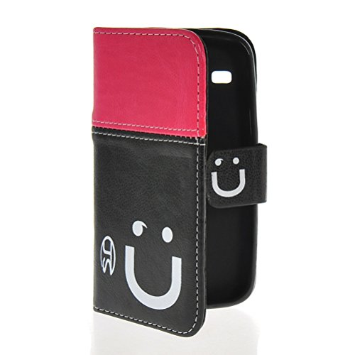 MOONCASE Coque en Cuir Portefeuille Housse de Protection Étui à rabat Case pour Apple iPhone 6 Plus Rouge Rose Noir Hot Rose