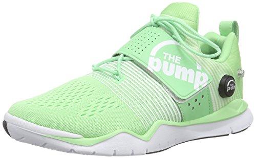 Reebok Zpump Fusion Tr, Chaussures de Fitness Femme Vert - Grün (Seafoam Green/White/Coal)
