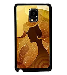 Fuson Premium 2D Back Case Cover Designed lady With Pink Background Degined For Samsung Galaxy Note Edge::Samsung Galaxy Note Edge N915