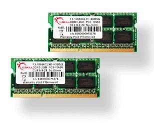 G. Skill SQ DDR3PC3-10666CL94GB 4GB DDR31333MHz Speicher -