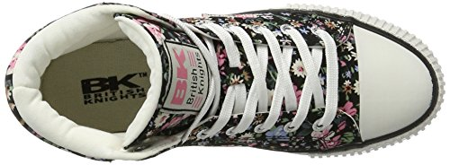 British Knights - Dee, Scarpe basse Donna Schwarz (black/pink flower)