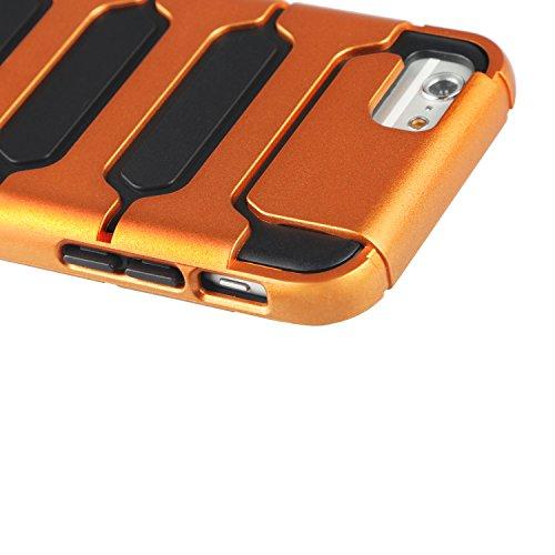"Coque iPhone 6s, TeckNet Coque de Protection Cover Case pour iPhone 6s (4.7""/12cm), Antichoc, Anti-rayures, Défense Design, Armure Collection Orange"