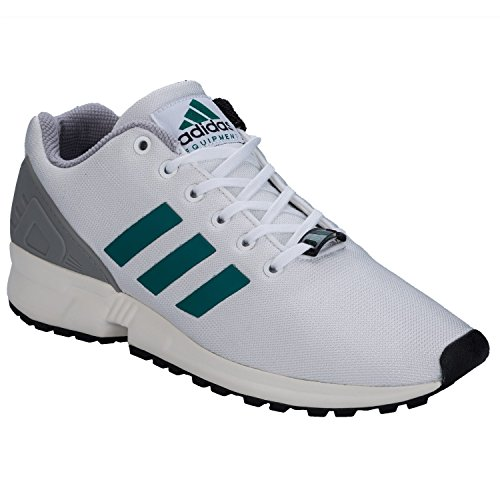 adidas Schuhe – Zx Flux weiß/grün/weiß Größe: 43 1/3 (Ultra Laufschuhe Cushion)
