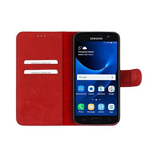 Bugatti 24944 Madrid Booklet Schutzhülle für Apple iPhone 6/6s schwarz Rot