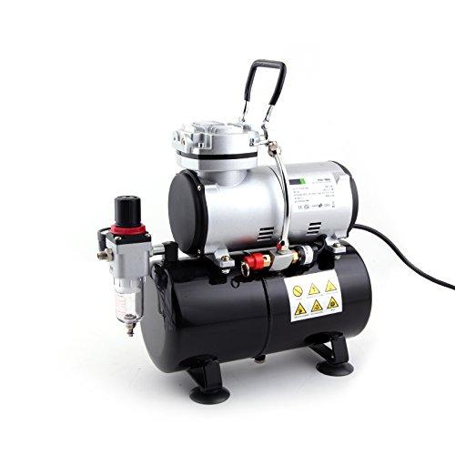 Preisvergleich Produktbild Fengda FD-186 Airbrush Kompressor mit Lufttank/Druckbehälter/ 4 bar / Auto Stop
