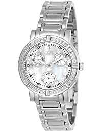 Invicta Women's Invicta II 4718 Silver Stainless-Steel Swiss Quartz Watch with Mother Of Pearl Dial