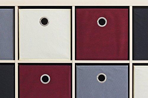 ikea kallax expedit regal box 4er set in grau smash. Black Bedroom Furniture Sets. Home Design Ideas