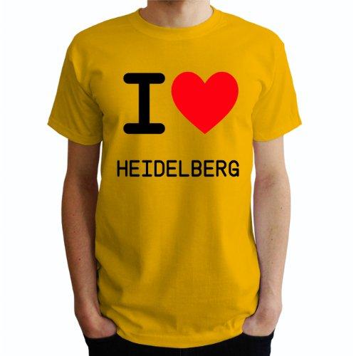 I love Heidelberg Herren T-Shirt Gelb