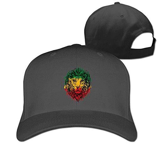 WYYCLD Rasta Lion Face 100% Cotton Baseball Cap Plain Low Profile Hat Fashion Trucker Twill Mesh - Low-profile-drain