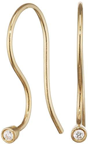 Trollbeads Damen Ohrhaken, Gold/Brilliant TAUEA-00001