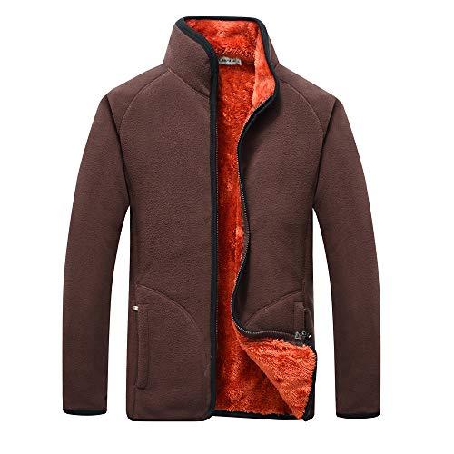 Velvet Smoking-hose (Setsail Herren Lässiges Top Herbst und Winter Plus Velvet Thicker Kleidung Reißverschluss Kragen Herrentel)