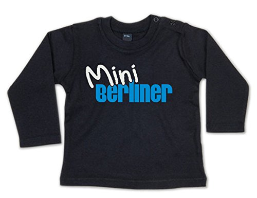 G-graphics Mini Berliner Baby Sweatshirt 268.0082 (6-12 Monate, schwarz)