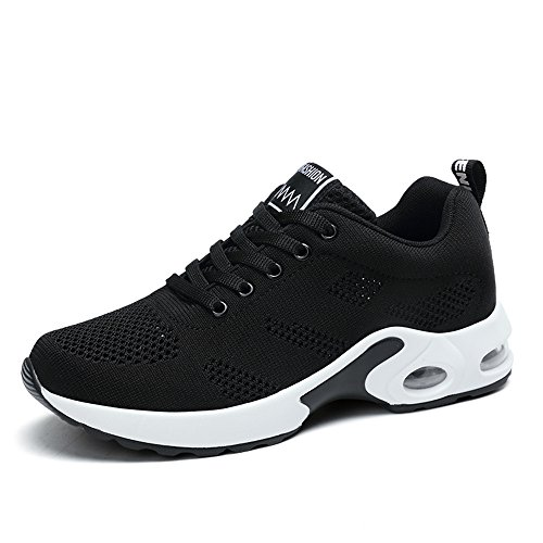 sneakers for cheap 2e593 94776 Womens Ladies Trainers Running Fitness Air Sneakers Athletic Lace up Sports  Shoes Black Pink Purple Red