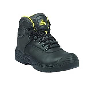 Amblers Mens Steel Fs220 W/P Safety Work Boots Black Size 4