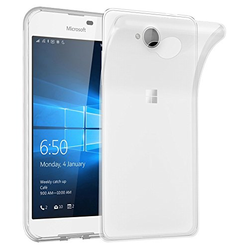 Cadorabo Hülle für Nokia Lumia 650 - Hülle in VOLL TRANSPARENT - Handyhülle aus TPU Silikon im Ultra Slim 'AIR' Design - Silikonhülle Schutzhülle Soft Back Cover Case Bumper