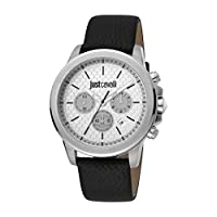 Just Cavalli Young Silver Dial Leather Analog Watch For Men