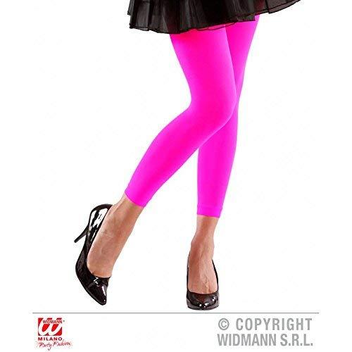 (Lively Moments Neonfarbene Leggings in Pink 70 Den / 80er Jahre Kostüm Zubehör / Strumpfhose / Pantyhose)