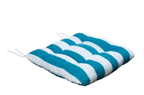 Silla Cojín,, Soft Cojín de asiento con rayas turquesa/cinta de fijación
