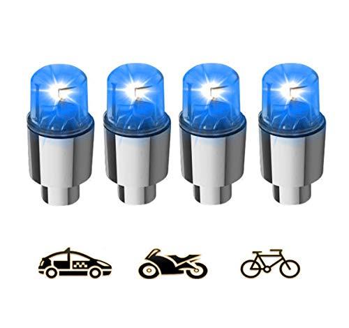 Suweor upo 8 Pezzi Luce a LED per Bicicletta, Wheels Sette Colori Luce Flash Light Lampada Bike LED per Bicicletta Auto Caps Firefly Pneumatici Accessori, per Ruote, Tappini, Biciclette (Blu)