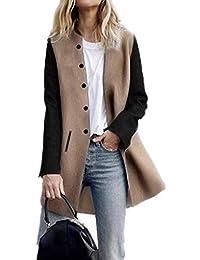 MEIbax Cardigan à manches longues à manches longues pour femmes Femmes  laine hiver et Cachemire femmes à capuche mi-long manteau… 6e9ee8ae3c89
