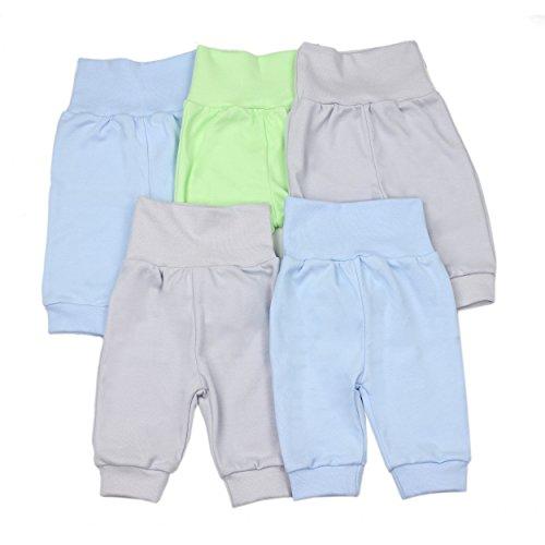 Baby Pumphose Basic Jogginghose Mädchen Schlupfhose Jungen Babyhose im 5er Pack, Farbe: Junge, Größe: 74
