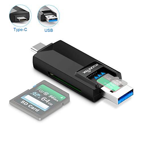 Eletrand SD Kartenleser Typ C Kartenlesegerät USB 3.0 kartenleser für PC und Notebooks Smartphones/Tablets mit OTG Funktion Kompatibel mit SDXC, SDHC, SD, Micro SDXC/Micro SD/Micro SDHC Karte ...