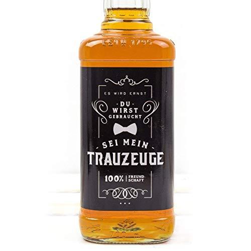 uzeuge, Aufkleber, Trauzeuge fragen, Whisky oder Bierflasche, Hochzeit, Mann ()