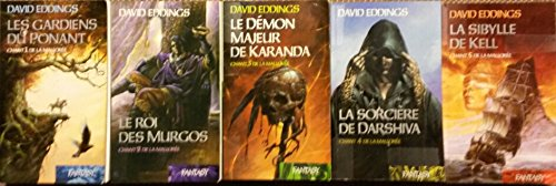 Chant de la Mallorée en 5 tomes (Les gardiens du Ponant/ Le roi des Murgos/ Le démon majeur de Karanda/ La sorcière de Darshiva/ La sibylle de Kell) par David Eddings