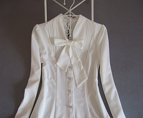 ZAMME Chemisier - Moulante - Manches Longues - Femme White Bodysuit