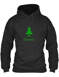 teespring Men's Novelty Slogan Hoodie - Clarence Family Christmas Tree Simple