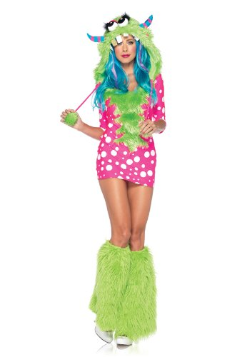 Leg Avenue 83933 - Melody Monster Kostüm, Größe S/M, rosa (Furry Monster Halloween Kostüme)
