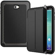 Samsung Galaxy Tab A 10.1 Funda(SM-T580),HAVE1SEE Auto Sleep Wake with Leather Stand Funda Samsung Galaxy Tab A 10.1 (SM-T580) Black