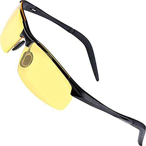wearpro Herren Sonnenbrillen Driving Sports Sonnenbrillen Polarisiert Al-Mg Metal Frame for Fising Cycling WP1005 (Yellow)