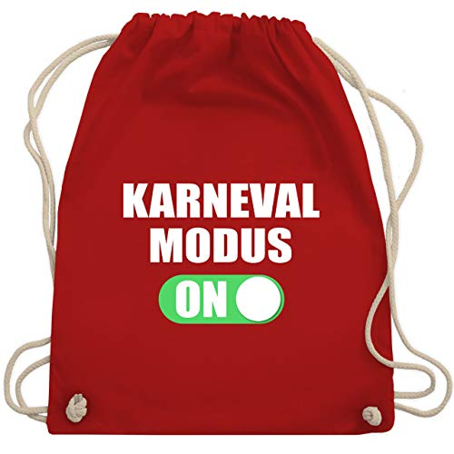 Karneval & Fasching - Karneval Modus ON - Unisize - Rot - WM110 - Turnbeutel & Gym Bag