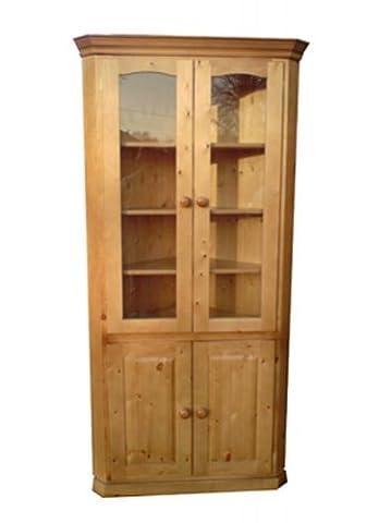 Wye Pine Glazed Corner Cabinet - Finish: Lacquer - Stain: Cherry