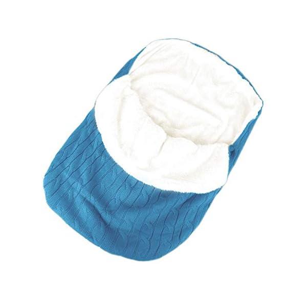 laamei Manta de Invierno para Bebé Recién Nacido Manta Envolvente Saco de Dormir Swaddle Diseño Universal y Multifunción para Sillas de Bebé, Cochecitos, Cunas (A-Azul Marino)