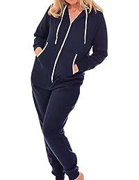 GAGA Womens Sherpa Fleece Pajama Suit Long-Sleeve Zipper Short Jumpsuit Sleepwear Romper