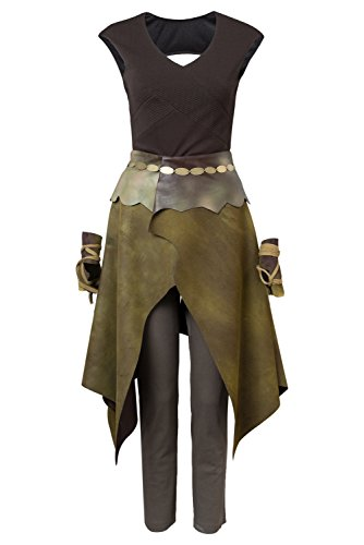GOT Game of Thrones Season 6 Daenerys Targaryen Dany Indigenous Outfit Cosplay Kostüm Damen M (Khaleesi Und Jon Snow Kostüm)