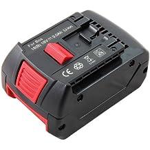 Mitsuru® 3000mAh Li-Ion 18V batería para Bosch Serie FHN180 GBH 18 V-LI GBH 18 VH GCB 18 V-LI GDR 18 LI GDR 18 V-LI GDR 18 V-LI MF GDR 18V-LIMF GDS 18 V-LI GDS 18 V-LI HT GHO 18 V-LI GKS 18 V-LI recambio Bosch 2607336040 2607336091 2607336092 2607336169 2607336170 2607336235 2607336236 BAT609 BAT609G BAT618 BAT618G