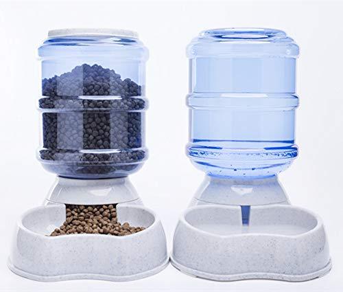 MonsterKill Haustier Zubringer/Hund&Katze Essen&Wasser Dispenser-2 Stück-Wasser Schüssel,Gericht,3800 ml