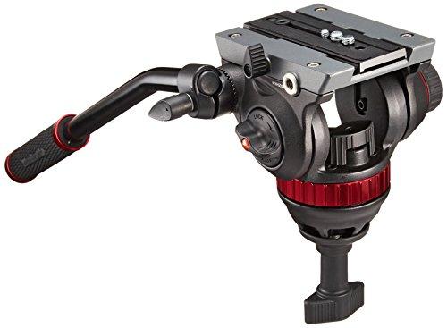 Manfrotto MVH502A Pro Fluid Video Neiger mit 75 mm Halbkugel und 504PL (Frei Manfrotto)