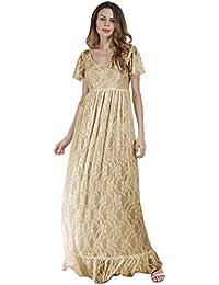 8f4b2e4db1f83a Amlaiworld Vintage Luxuriös Spitze cocktailkleid Damen Frühling Sommer  Strickkleid Mode lang Kleid elegant künstlerische Fotos…