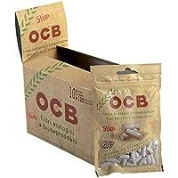 OCB - Boquillas de filtro para cigarrillos (material orgánico, 10 paquetes con 120 unidades, 6 mm)