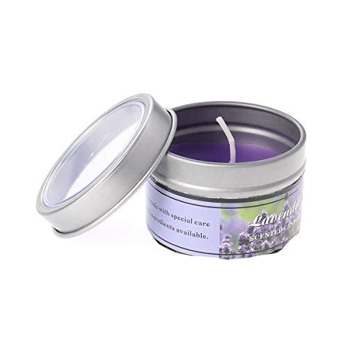 frcolor Aromatherapie ätherisches Öl Kerzen natürlichem Soja Wachs Floral ätherisches Öl weihgabe Dose Kerzen (Lavendel) -