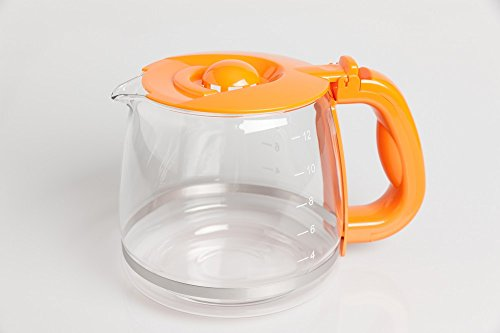 Russel Hobbs Kaffeekanne, Glaskanne, Ersatzkanne 168370/GRH, Orange für Kaffeemaschine 14683-56 - 24001013006